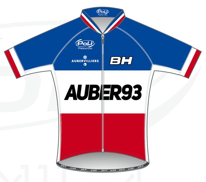 maillot poli auber 93 bh champion de france 2015