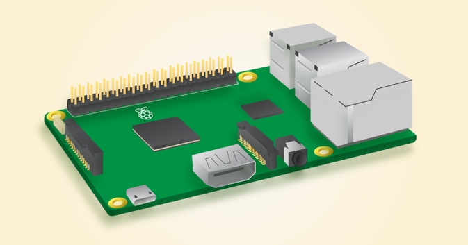 Unser neuer Hauptprozessor | Source: https://www.raspberrypi.org/products/raspberry-pi-3-model-b/