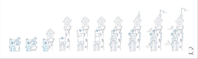 Concept art de décors pour une publicité Néstlé NIDO