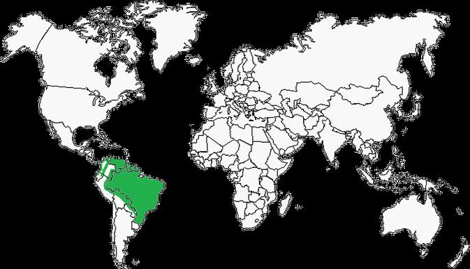 Carte de la répartition du Chien Des Buissons