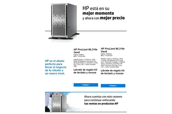 Promociones en servidores.