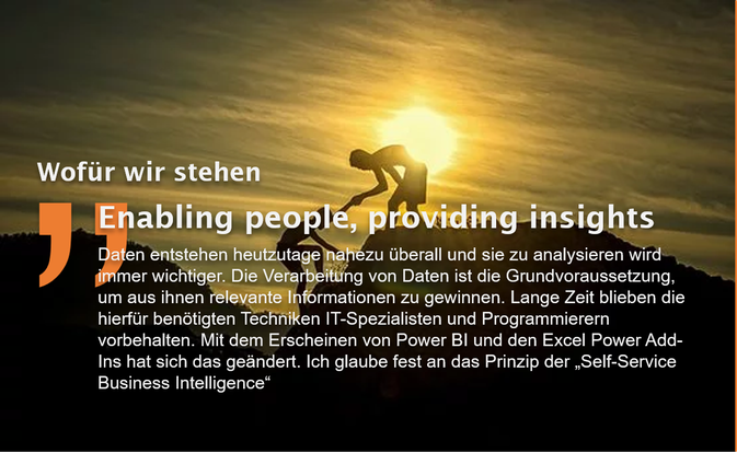 data-insights.de Mission Statement: Enabling people, providing insights