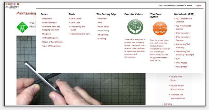 Der Kurs ist gut strukturiert und über das Menü lassen sich die Themen einzeln anwählen.
