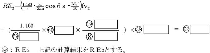 原動機種別によるRE2  ガスタービンの場合 自家発電設備