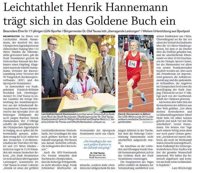 Holsteinischer Courier 02.09.2014