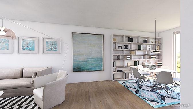 3D Visualisierung Rendering Wohnbereich
