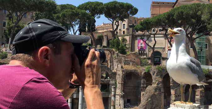Der Fotograf und sein Model (Rom, Forum Romanum) - Foto: Thomas Fuchs