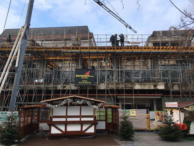 Bünde Kaufhaus Traggerüst Länge 50,00 m, Höhe 10,00 m, Tragfähigkeit 50,00 t