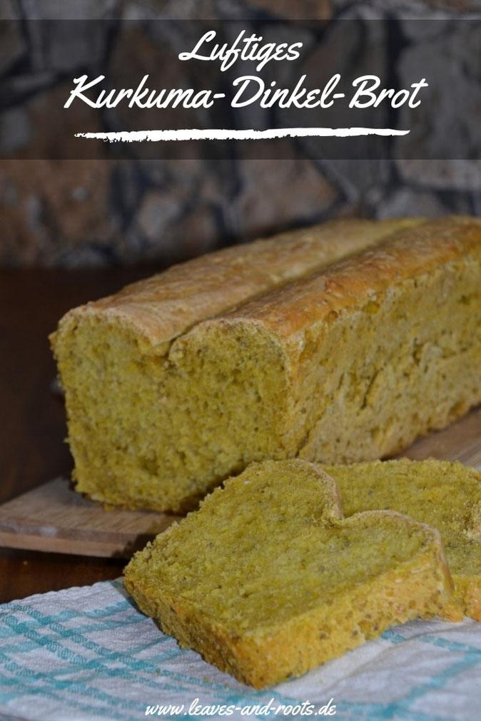 Luftiges Dinkel Brot mit Kurkuma und Chiasamen