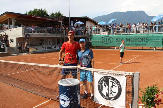 Die Finalisten Alex Erler (li.) und Patrick Ofner