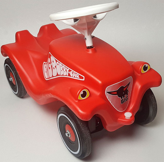 Big Bobby Car, Bobby Car rot, Bobby Car Classic rot, Rutschauto Test