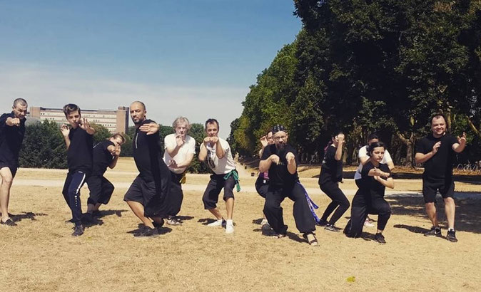 Teilnehmer des Kung Fu Schultreffens in Köln