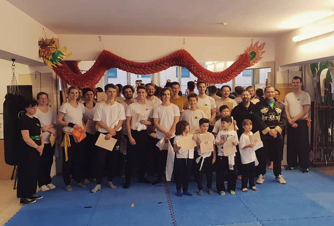 Prüfungsfoto Jing Wu Kung Fu Schule Köln