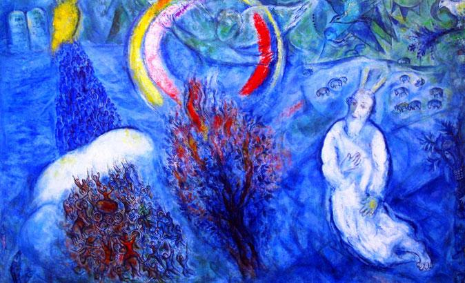 Chagall, Der brennende Dornbusch