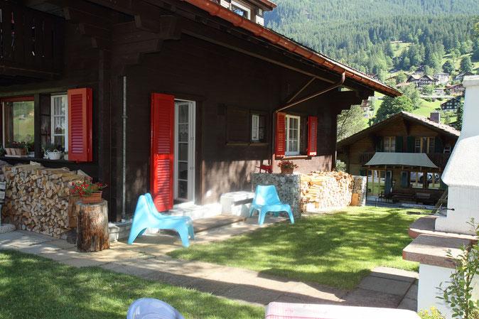 Ferienwohnung Chalet Birkhahn Grindelwald - Garten