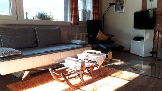 Ferienwohnung Chalet Birkhahn Grindelwald - Wohnzimmer