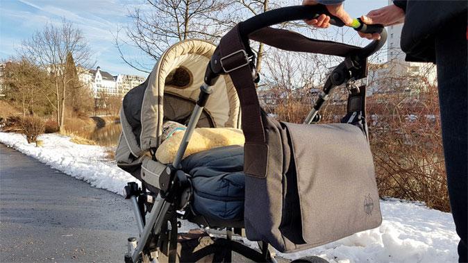 Lässig Wickeltasche Kinderwagenbefestigung