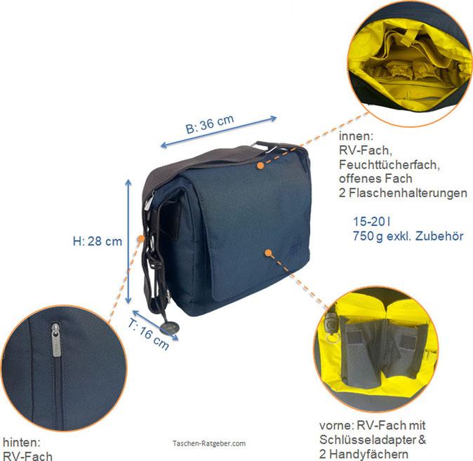 Lässig Wickeltasche Test; Lässig Messenger Bag; Lässig Messenger Bag; Lässig Green Label Small Messenger Bag; kleine Wickeltasche Test