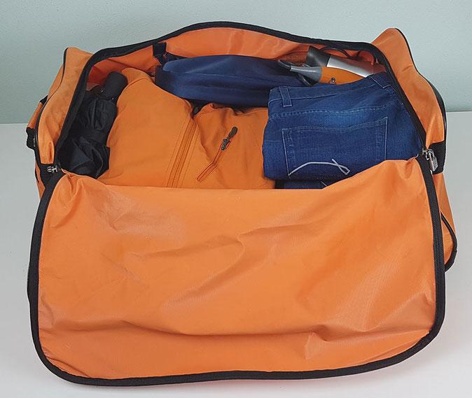 Deuba Reisetasche 85 Liter, Reisetasche orange