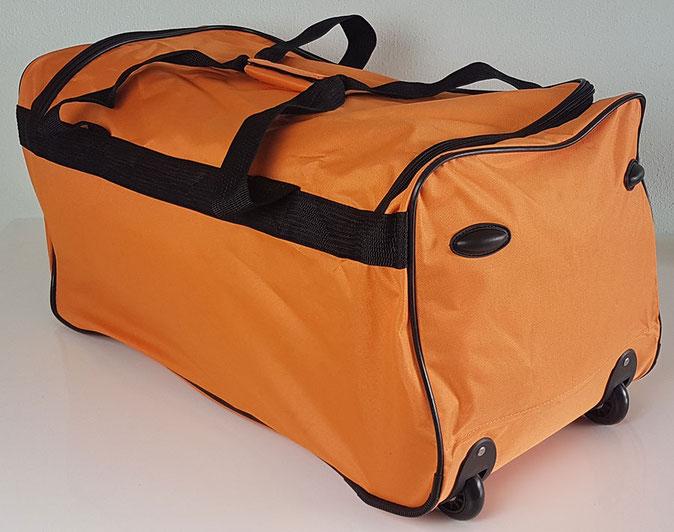 Rollenreisetasche, Reisetasche mit Rollen, Deuba Reisetasche, Reisetasche orange