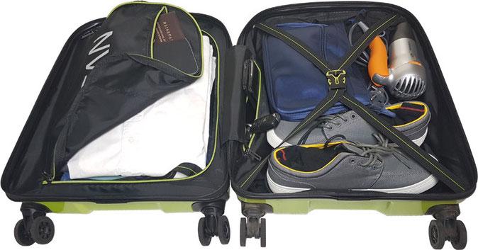 Reisekoffer Titan X2  bepackt