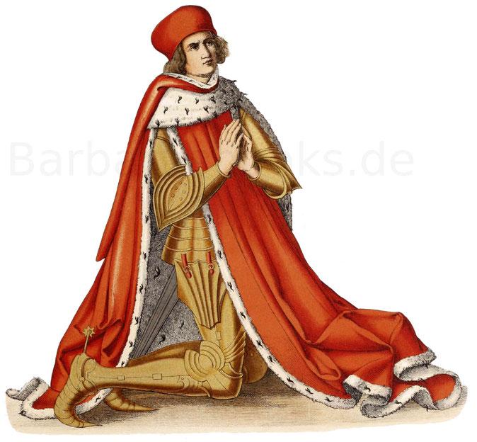 Albrecht III. (Achilles), Kurfürst von Brandenburg, nach einem Gemälde in der Stiftskirche zu Ansbach.