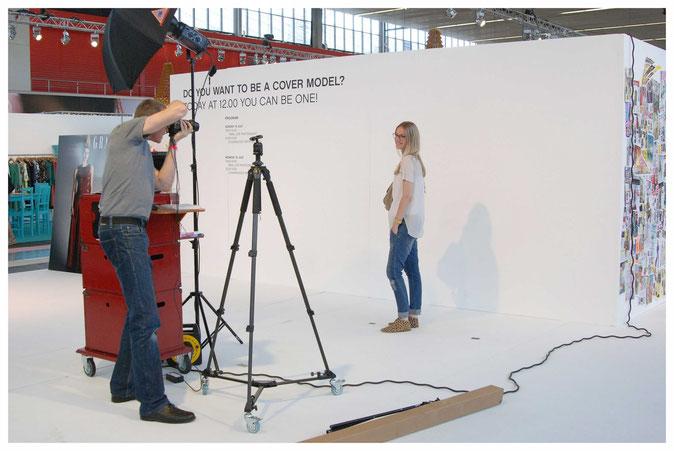 Foto van de Coverstudio op de Amsterdam Fashionweek in de RAI in Amsterdam voor het blad Grazia