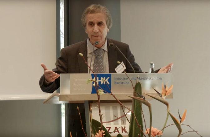 Dr. Salem El-Hamid bei der IHK Karlsruhe