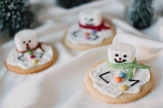 Geschmolzene Schneemann-Kekse