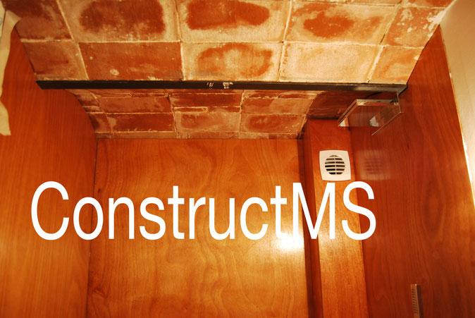 constructms reformas rehabilitacion baño lavabo diseño madera