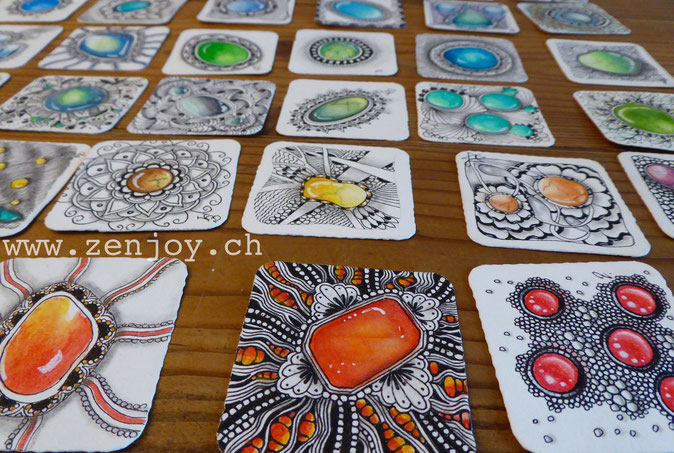 gemstones by Zenjoy Zentangle Zengems