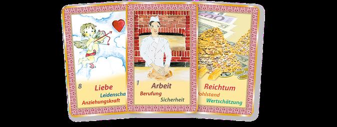 Beispiele um Kartenlegen mit Orakelkarten