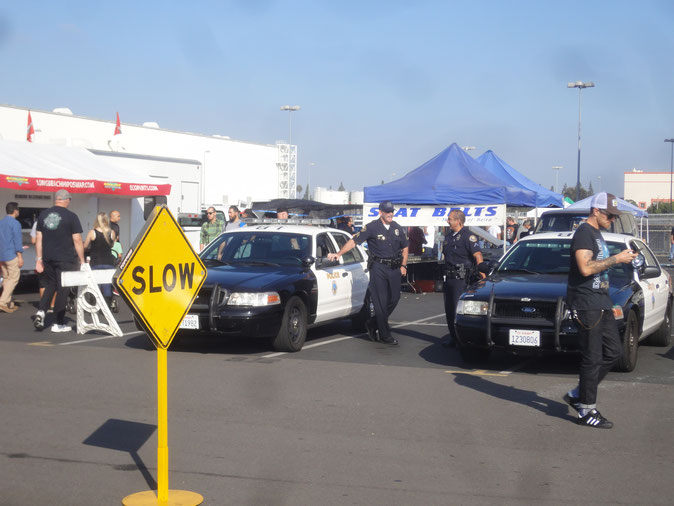 Bild: HDW-USA, Police, Long Beach, Los Angeles, Car Show, Amerika, Der Weiße Büffel
