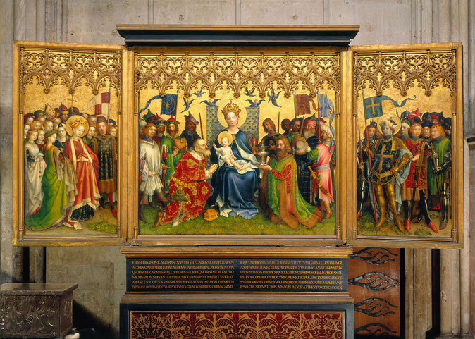 Köln, Dom, Altar der Stadtpatrone, geöffnet, Gesamtansicht © Hohe Domkirche Köln, Dombauhütte; Foto: Matz und Schenk