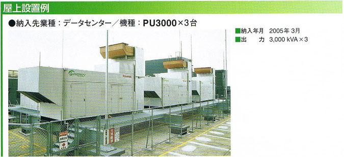 PU3000の納入例(屋外設置)