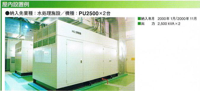 PU2500の納入例(屋内設置)