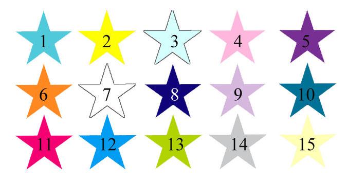 Farbauswahl Wandaufkleber Sterne