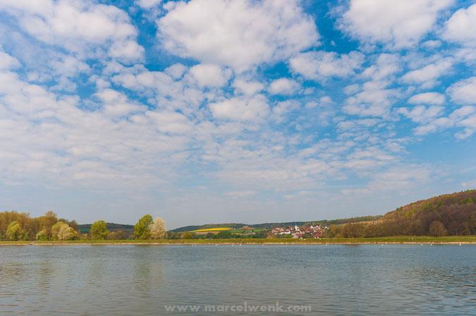 Tolle Frühlingsfarben beim Blick auf Riedensheim
