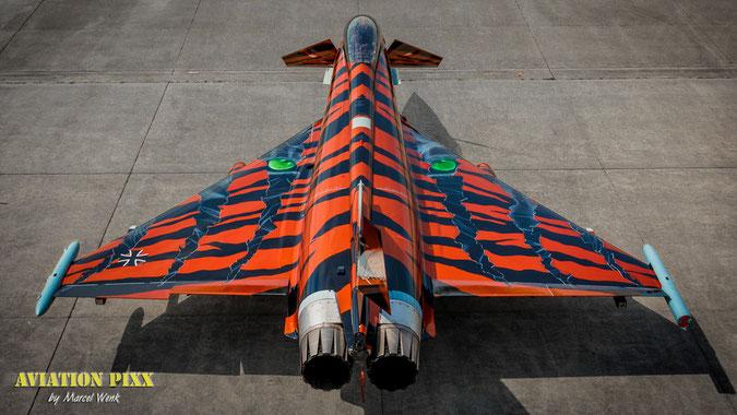 """Der """"Bronze Tiger"""" frisch lackiert nach dem Roll-out in Erding (Klick für Vollbild)"""