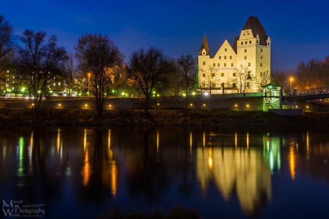 """Das Neue Schloß Ingolsatdt...und so schaut das dann zur """"blauen Stunde"""" aus..."""