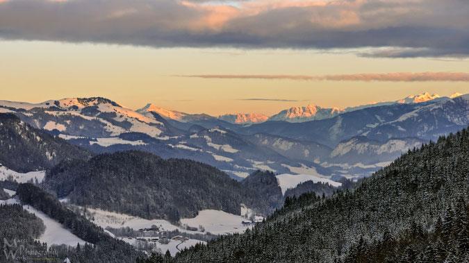 Traumhafte Sonnenuntergänge, Alpenglühen inklusive