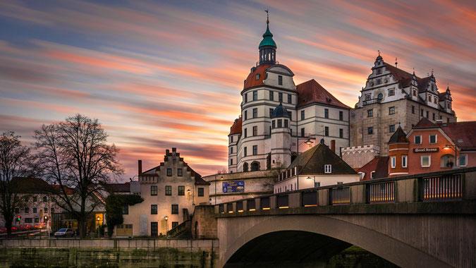 """""""Märchenhaftes Neuburg an der Donau"""", entstanden kurz vor Weihnachten an einem milden Dezembertag. Bei diesem Bild hat so gut wie Alles gepasst."""