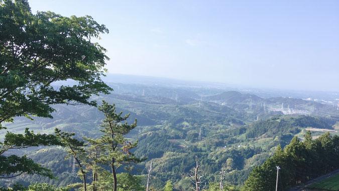 粟ヶ岳の景色