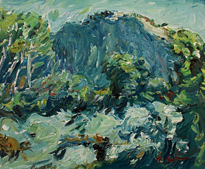 Alpilles   2006, Öl auf LW, 46 cm x 55 cm