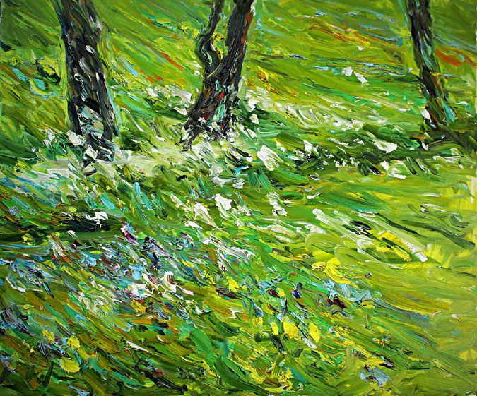 Sommerwiese Søvikdal   2013, Öl auf LW, 46 cm x 55 cm