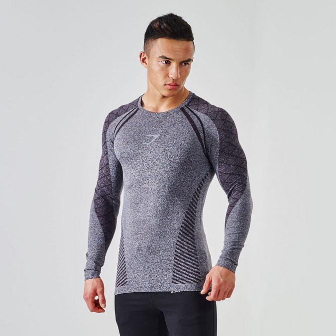 903b3ac8b95ed8 Gymshark Phantom Long Sleeve Tshirt Charcoal