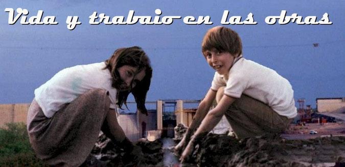 Niños de la obra jugando - Alicura - Argentina