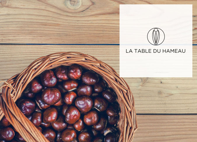 Menu spécial chataîgne à la Table du Hameau, restaurant gastronomique à Paradou