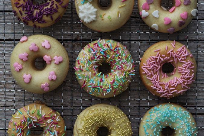 Donuts aus dem Backofen