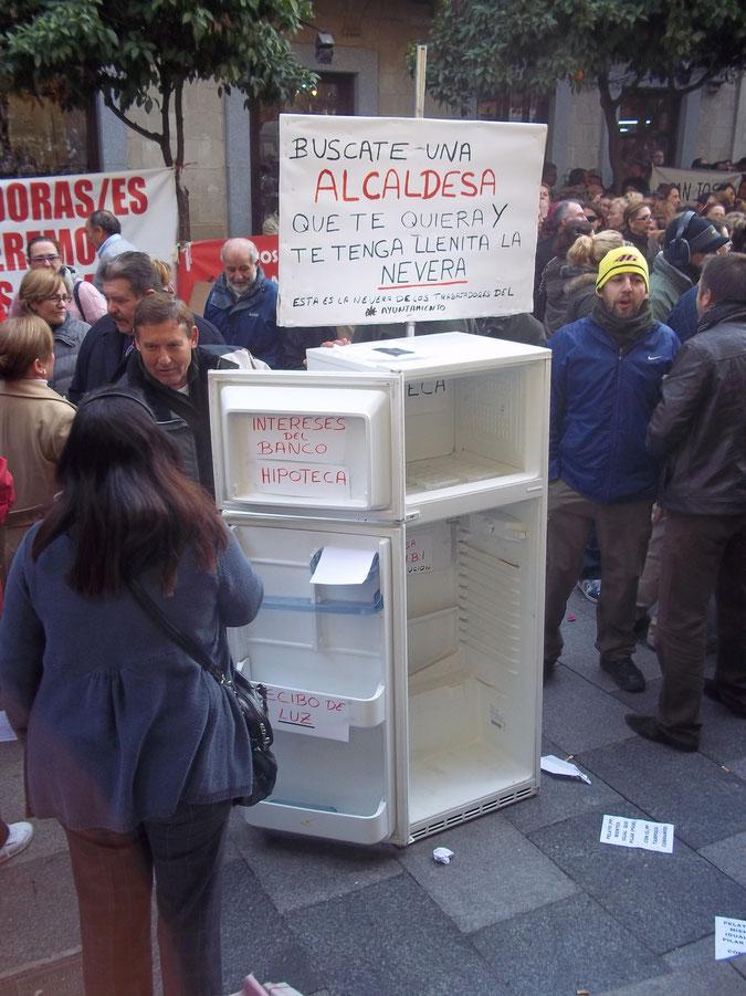 Manifestaciones de los trabajadores Municipales de Jerez